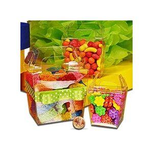 """Paper Mart Clear 32oz PET Tote Boxes - 4-13/16"""" X 3-1/2"""" X 4-3/8 - Plastic - Quantity: 12 - Plastic Boxes - Size: 32 Oz by Paper Mart"""