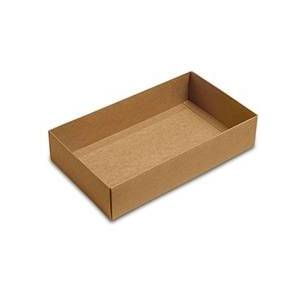 Paper Mart Clear Kraft Macaron Box Base - 9 X 5-1/4 X 2 - Cardboard - Quantity: 100 Type: Base by Paper Mart