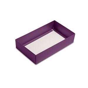 Paper Mart Clear Eggplant Macaron Box Base - 9 X 5-1/4 X 2 - Cardboard - Quantity: 100 Type: Base by Paper Mart