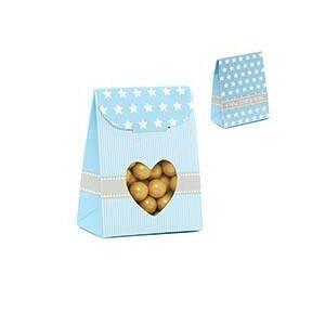Paper Mart Blue Heart Tab Top Fvr Box-Pk - 2-3/8 X 1-3/8 X 3-1/8 - Cardboard - Quantity: 25 - Favor Boxes by Paper Mart