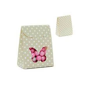 Paper Mart Sage Butterfly Tab Top Fvr Box-Pk - 2-3/8 X 1-3/8 X 3-1/8 - Cardboard - Quantity: 25 - Favor Boxes by Paper Mart