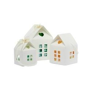 Paper Mart Ivory House Gift Box-Pk - 4 X 4 X 4 - Cardboard - Quantity: 25 - Favor Boxes by Paper Mart