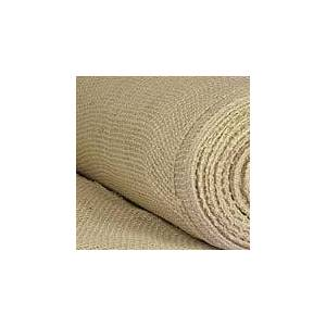 """Paper Mart White Natural Jute Fabric - 9"""" X 10 Yards - Type: Roll by Paper Mart"""