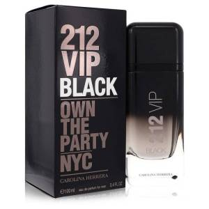 Carolina Herrera 212 Vip Black Cologne by Carolina Herrera 3.4 oz EDP Spay for Men