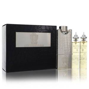 Alyson Oldoini Crystal Oud Cologne 2 oz EDP Refillable Spray Includes 3 x 20ml Refills and Refillable Atomizer for Men
