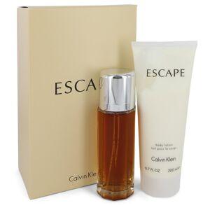 Calvin Klein Escape for Women, Gift Set (3.4 oz EDP Spray + 6.7 oz Body Lotion)