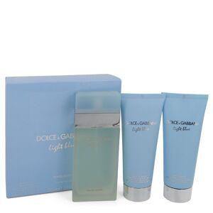 Dolce & Gabbana Light Blue for Women, Gift Set (3.3 oz EDT Spray + 3.3 oz Body Cream + 3.3 oz Shower Gel)