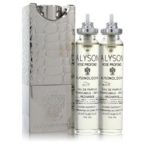 Alyson Oldoini Rose Profond Perfume 2 oz EDP Refillable Spray Includes 3 x 20 ml Refills and Atomizer for Women