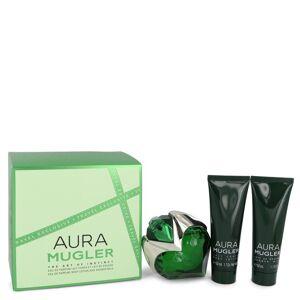 Thierry Mugler Mugler Aura for Women, Gift Set (1.7 oz EDP Spray + 1.7 oz Body Lotion + 1.7 oz Shower Milk)