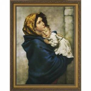 Nelson Fine Art & Gifts Madonna of the Streets, Gold Frame by Roberto Ferruzzi