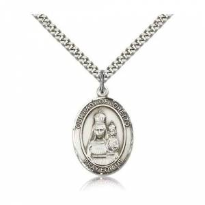 Bliss Manufacturing Sterling Silver Our Lady of Loretto Pendant w/ chain