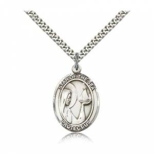 Bliss Manufacturing Sterling Silver Our Lady Star of the Sea Pendant w/ chain