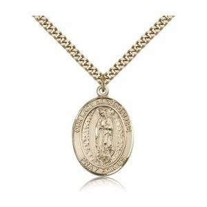 Bliss Manufacturing Gold Filled Our Lady of Guadalupe Pendant w/ chain