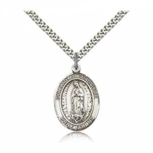 Bliss Manufacturing Sterling Silver Our Lady of Guadalupe Pendant w/ 22 inch chain