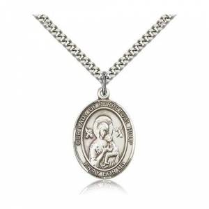 Bliss Manufacturing Sterling Silver Our Lady of Perpetual Help Pendant w/ chain