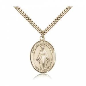 Bliss Manufacturing Gold Filled Our Lady of Lebanon Pendant w/ chain