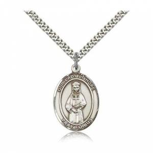 Bliss Manufacturing Sterling Silver Our Lady of Hope Pendant w/ chain