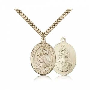 Bliss Manufacturing Gold Filled Our Lady of Mount Carmel Pendant w/ chain