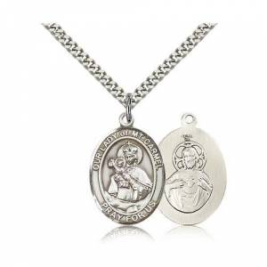 Bliss Manufacturing Sterling Silver Our Lady of Mount Carmel Pendant w/ chain