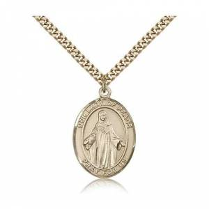 Bliss Manufacturing Gold Filled Our Lady of Peace Pendant w/ chain