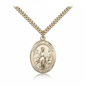 Bliss Manufacturing Gold Filled Our Lady of Knock Pendant w/ chain