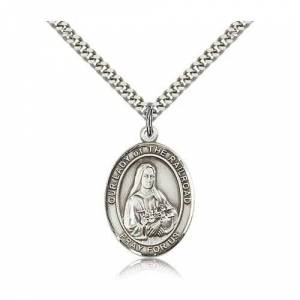 Bliss Manufacturing Sterling Silver Our Lady of the Railroad Pendant w/ chain