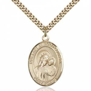 Bliss Manufacturing Gold Filled Our Lady of Good Counsel Pendant w/ chain