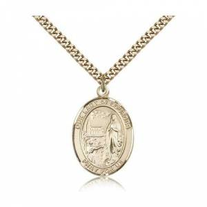 Bliss Manufacturing Gold Filled Our Lady of Lourdes Pendant w/ chain