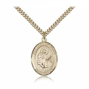 Bliss Manufacturing Gold Filled Our Lady of Mercy Pendant w/ chain