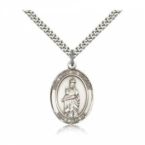 Bliss Manufacturing Sterling Silver Our Lady of Victory Pendant w/ chain