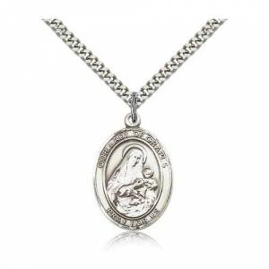 Bliss Manufacturing Sterling Silver Our Lady of Grapes Pendant w/ chain
