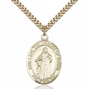 Bliss Manufacturing Gold Filled Our Lady Of Knots Pendant w/ chain