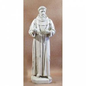 """Orlandi Statuary St Francis with Dove 74"""" H"""