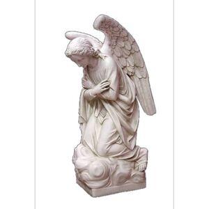 """Orlandi Statuary Adoration Kneeling Angel Crossed 56"""""""