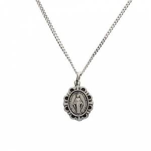 """McVan, Inc Sterling Silver Miraculous Medal on 16"""" Chain"""