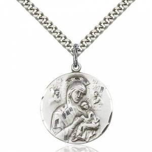 Bliss Manufacturing Sterling Silver Our Lady of Perpetual Help Pendant
