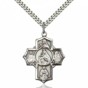 Bliss Manufacturing Sterling Silver Our Lady of Mount Carmel Pendant