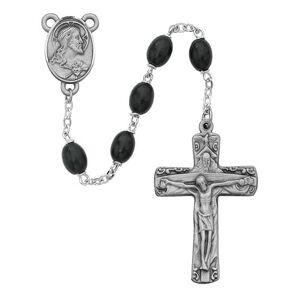 McVan - DROP SHIP ORDERS Black Wood Trinity Rosary  - Black