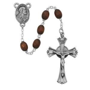 McVan - DROP SHIP ORDERS Brown Wood Rosary  - Brown