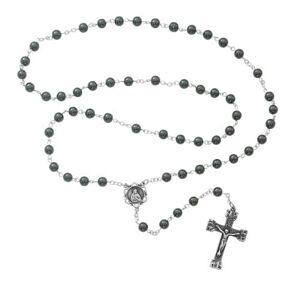 McVan - DROP SHIP ORDERS Genuine Hematite Rosary  - Gray