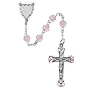 McVan - DROP SHIP ORDERS Pink Heart Rosary  - Pink