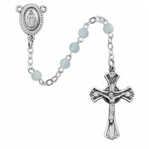 McVan - DROP SHIP ORDERS Blue Glass Youth Rosary  - Blue
