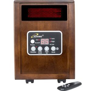 iLIVING 1500 Watt Infrared Portable Space Heater