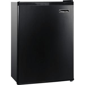 Magic Chef 2.4 Cu. Ft. Mini Refrigerator w/ Half-Width Freezer - Black