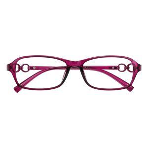 GlassesShop Women's Oval Eyeglasses, Full Frame TR90 Purple - FP1908