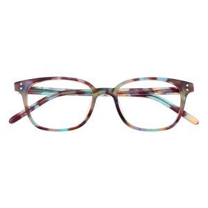 GlassesShop Women's Classic Wayframe Eyeglasses, Full Frame Plastic Multicolor - FZ1320