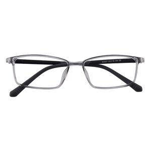GlassesShop Men's Rectangle Eyeglasses, Full Frame TR90 Gray - FP1963