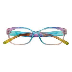 GlassesShop Women's Cat Eye Eyeglasses, Full Frame TR90 Polychrome - FP2013