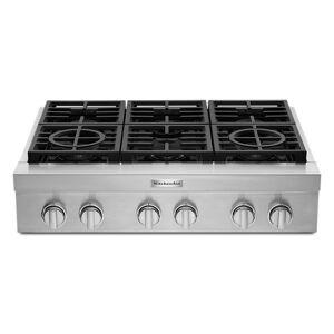 KitchenAid reg; 36'' 6-Burner Commercial-Style Gas Rangetop  - Stainless Steel