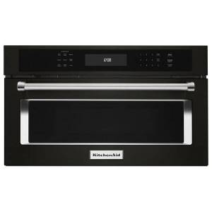 "KitchenAid reg; 27"" Built In Microwave Oven with Convection Cooking  - Black Stainless Steel with PrintShield™"